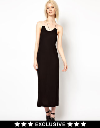 Ann Sofie Back BACK by Ann-Sofie Back Exclusive For ASOS Clear Strap Tank Dress