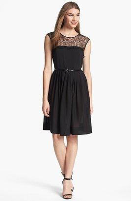Calvin Klein Lace Fit & Flare Dress