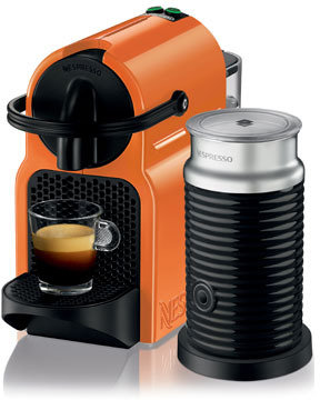 Nespresso by Delonghi EN80OAE Inissia Capsule Coffee Maker: Orange