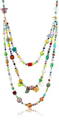 Antica Murrina Brio - Triple-Strand Multicolor Murano Glass Bead Necklace $213 thestylecure.com