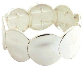 Women's Fashion Stretch Bracelet - Silver