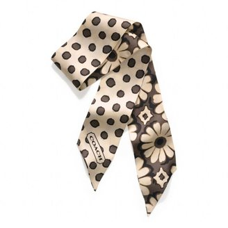 Coach Poppy Floral Ponytail Scarf