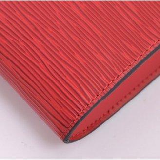 Louis Vuitton excellent (EX Red Epi Leather Pochette Accessories Bag
