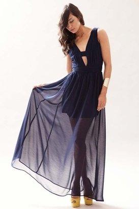 Keepsake Love Struck Maxi Dress in Navy