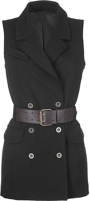 Bailey 44 Black Belted Sleeveless Top