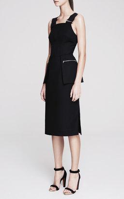 Josh Goot New Utility Contrast Strap Pencil Dress