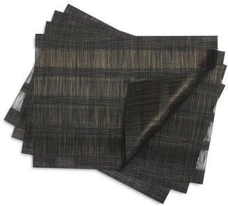Chilewich Fringe Stripe Mink Placemat