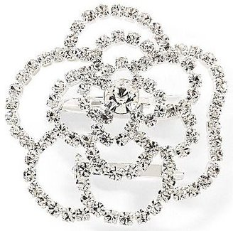 JCPenney Vieste Silver-Tone Crystal-Accent Flower Pin