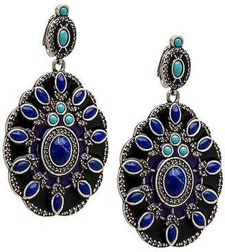 Lee Angel Egyptian Enamel Earrings