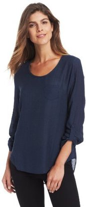Calvin Klein Jeans Women's Long Sleeve U-Neck Top