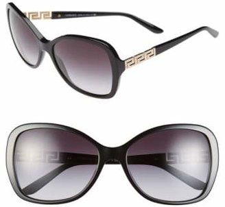 Versace 58mm Butterfly Sunglasses