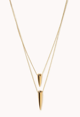 Forever 21 Layered Spike Necklace