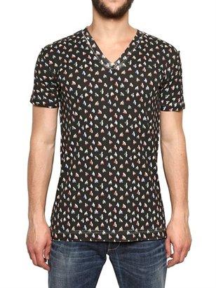 Dolce & Gabbana Box Print Cotton Jersey T-Shirt
