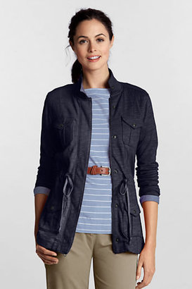 Lands' End Women's Petite Starfish Slub Terry Parka Jacket