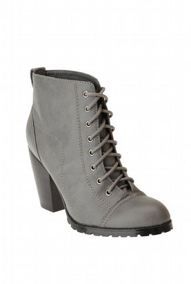 Urban Outfitters Deena & Ozzy Lace-Up Tread Bottom Bootie Heel