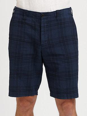 Vince Plaid Trouser Shorts