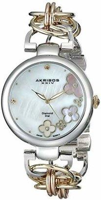 Akribos XXIV Women's AK645TRI Lady Diamond-Accented Watch