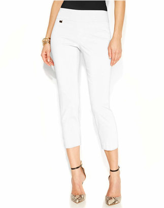 Alfani Tummy-Control Pull-On Capri Pants, Only at Macy's $29.99 thestylecure.com