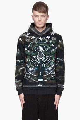 Givenchy Green and blue pre-colairplane hoodie