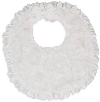 Mud Pie Baby-Girls Newborn Chiffon Rosette Bib