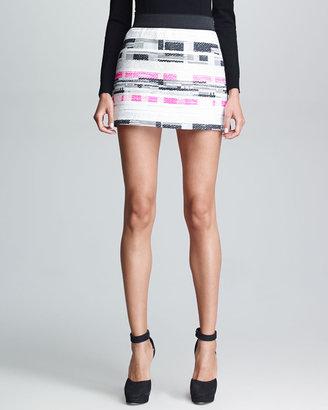 Milly Tweed Ribbon Miniskirt