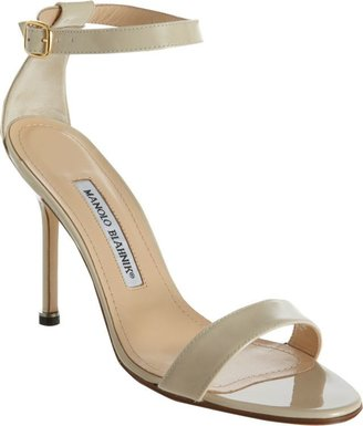 Manolo Blahnik Chaos Ankle-Strap Sandals-Nude