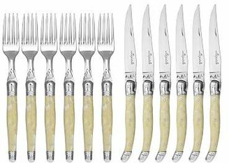 Jean Dubost Le Thiers Laguiole by Steak Knives and Forks Set, 12 Piece