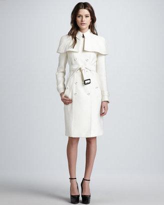 Burberry Caped Duchess Satin Trenchcoat