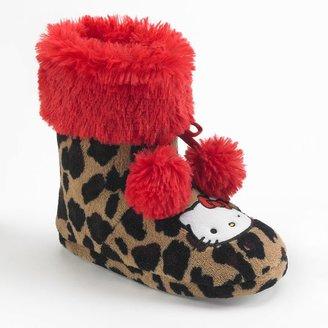 Hello Kitty pom-pom bootie slippers - girls
