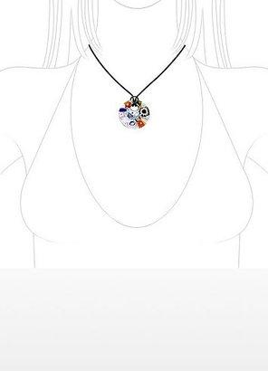 Akuamarina Iris - Multicolor Murano Glass Pendant w/Rubber Lace