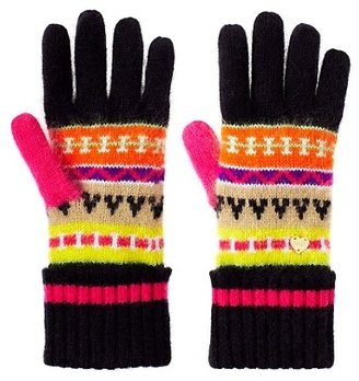 Juicy Couture Angora Fair Isle Gloves