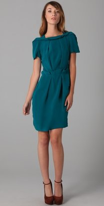 Willow Cap Sleeve Double Tuck Dress