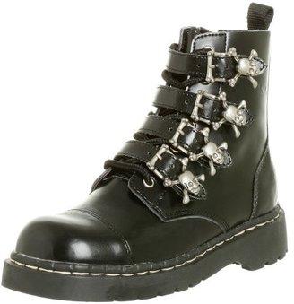 T.U.K. Women's 4-Skull Buckle Boot