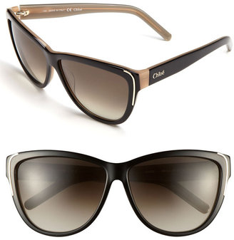 Chloé 59mm Oversized Sunglasses