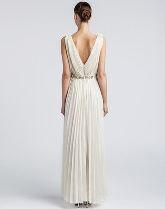 Lanvin Long Dress In Netting