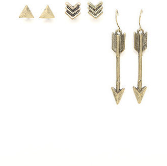 With Love From CA Down Arrow 3 Earring Set