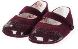 Janie and Jack Patent Velveteen Crib Shoe
