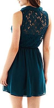 JCPenney Swat Speechless Sleeveless Lace Shirtdress