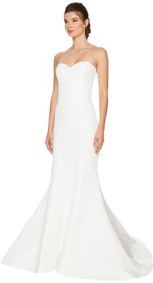 Nicole Miller Dakota Silk Faille Strapless Gown Women's Dress