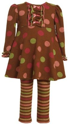 Bonnie Jean Girls 2-6X Multi Dot Fuzzy Knit Legging Set