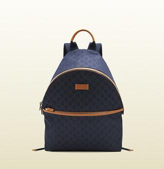 Gucci Medium Blue Nylon Guccissima Backpack