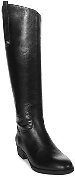 Sam Edelman Women's Penny Round Toe Leather Low-Heel Riding Boots