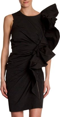 Lanvin Large Ruffle Panel Dress Sale up to 60% off at Barneyswarehouse.com