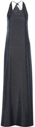 Thakoon Leopard-patterned satin-jacquard maxi dress
