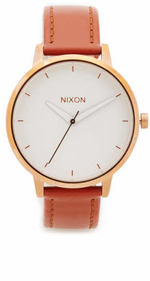 Nixon Kensington Leather Watch $125 thestylecure.com