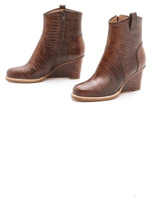 Maison Martin Margiela Leather Wedge Booties