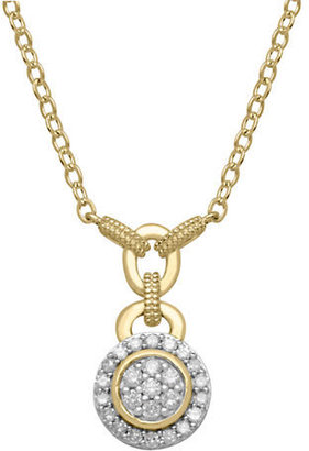 Lord & Taylor 14Kt. Yellow Gold & Diamond Necklace