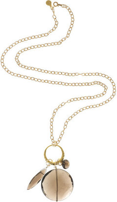Monica Vinader Gold plated charm necklace