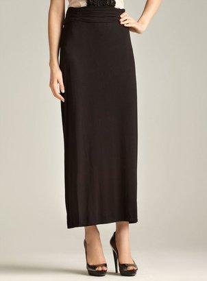 Max Studio Ruched Waist Maxi Skirt