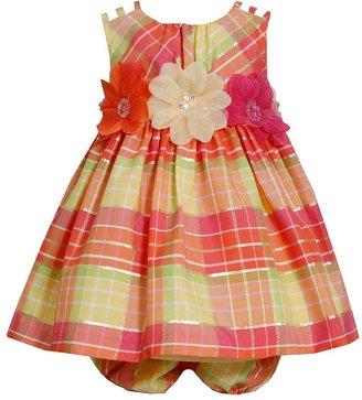Bonnie Jean plaid taffeta dress - baby